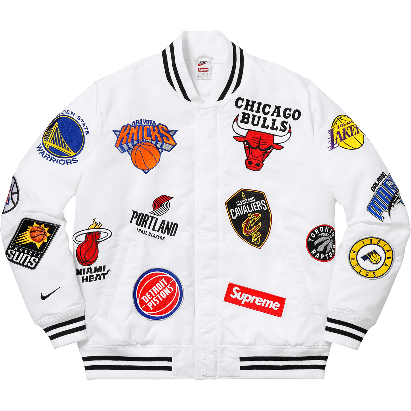 Supreme x Nike x NBA Teams Warm-Up Jacket e7a539a71