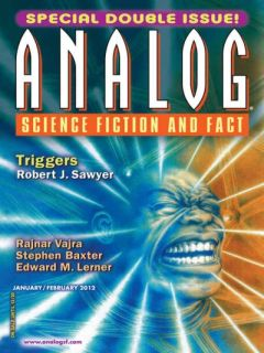Cover of the magazine Analog Science Fiction and Fact, January-February 2012 issue