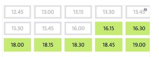 formulario de horas libres en verde