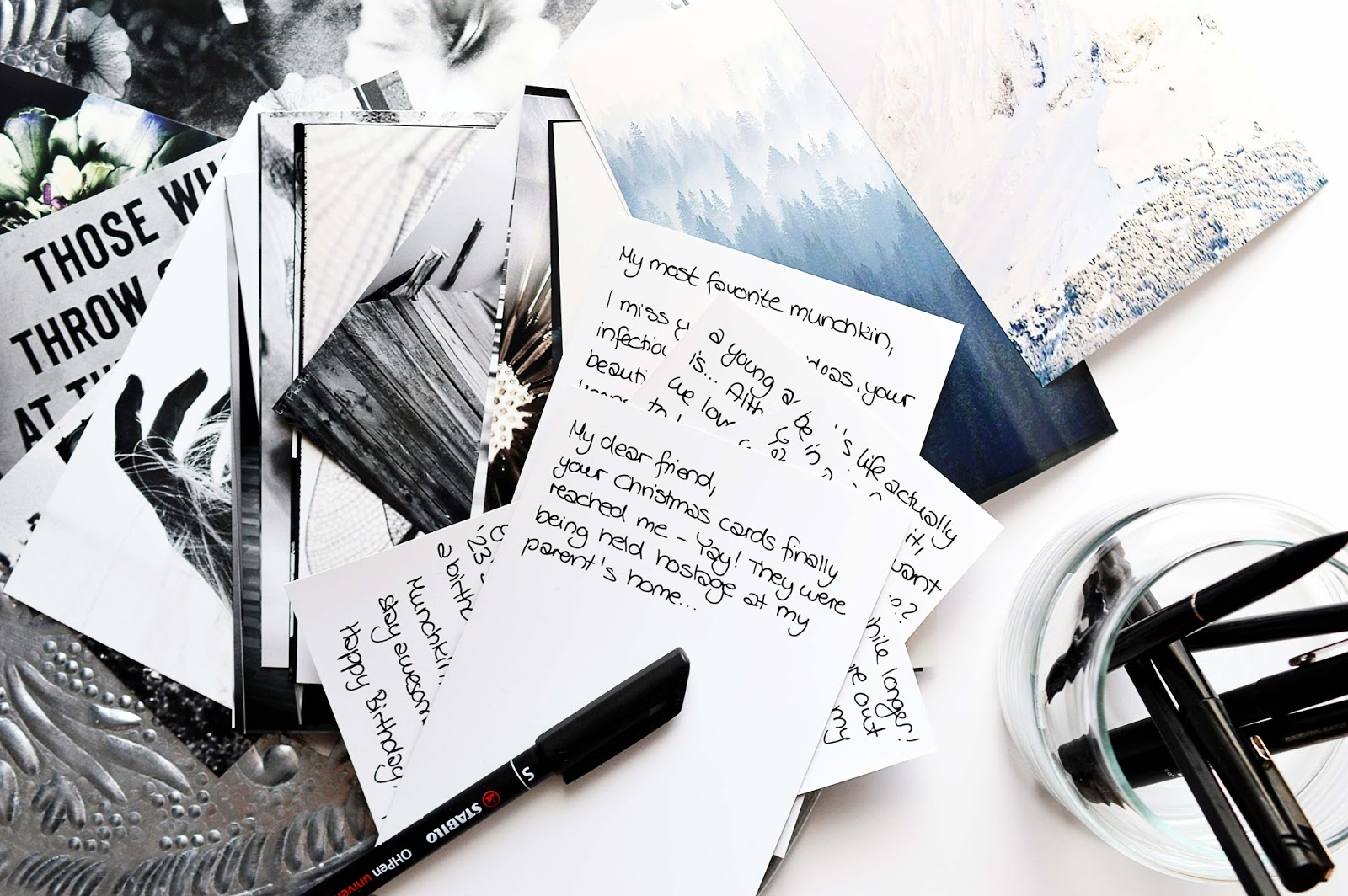 Writing postcards | Motte's Blog