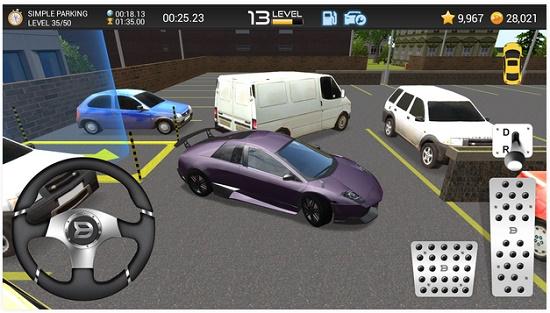 game simulasi parkir mobil di android dengan grafis 3D