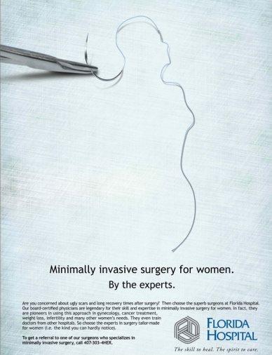 Пример рекламы хирургической клиники