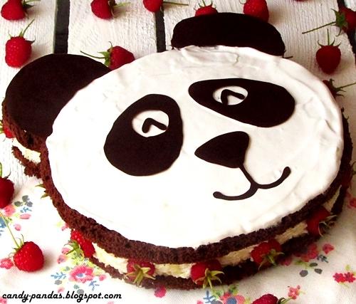 Torcik Panda z kokosowo-jaglanym nadzieniem (bez glutenu, laktozy, cukru białego)
