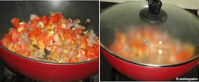 tempering onion tomato
