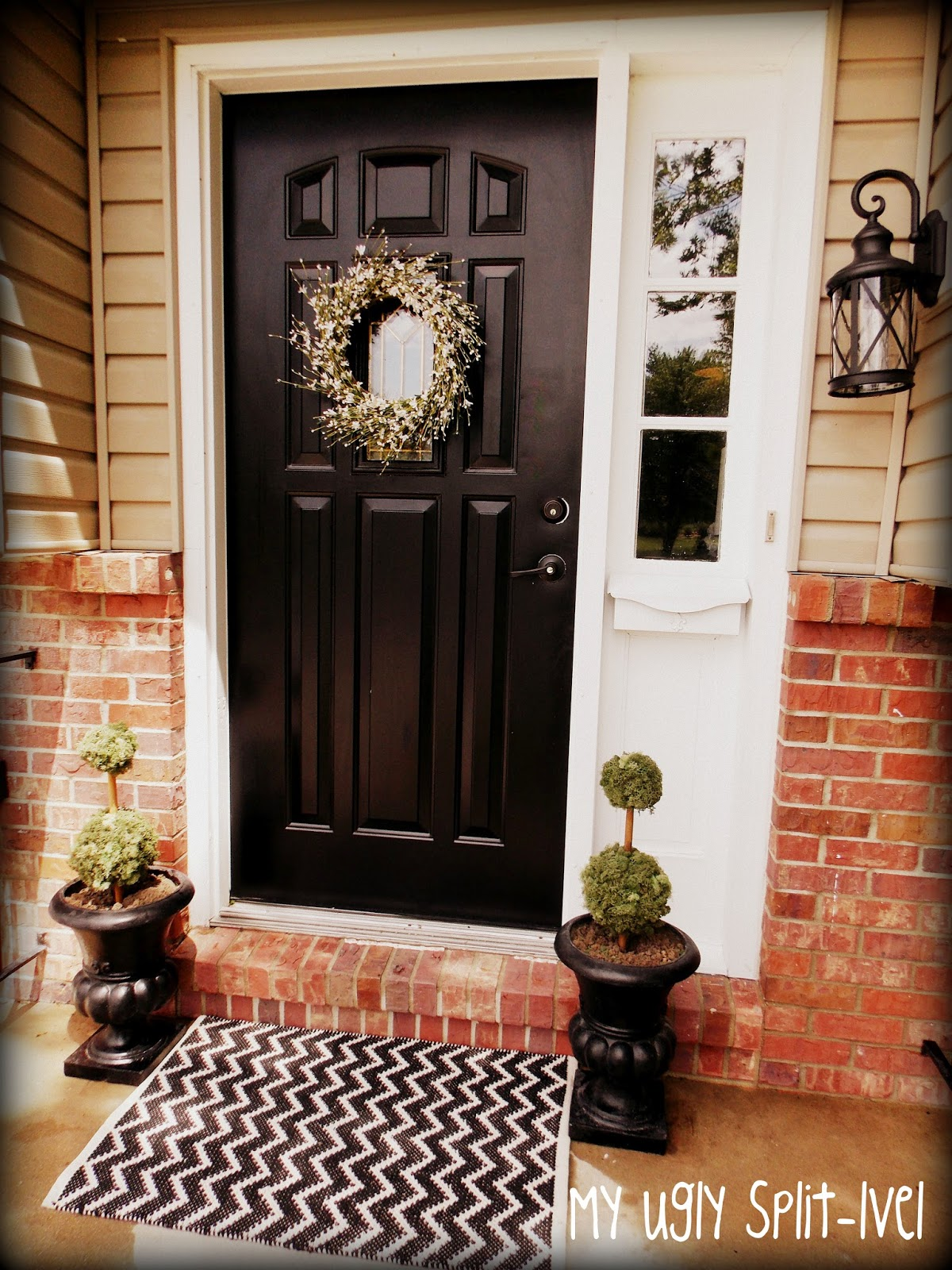 My Ugly Split Level Entryway: My Ugly Split-level: Inexpensive Curb Appeal