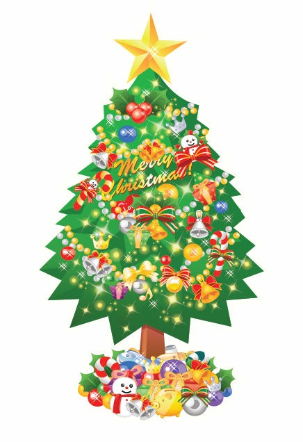 FREE Christmas Tree Vector Collection   Ipietoon-Cute Blog ...