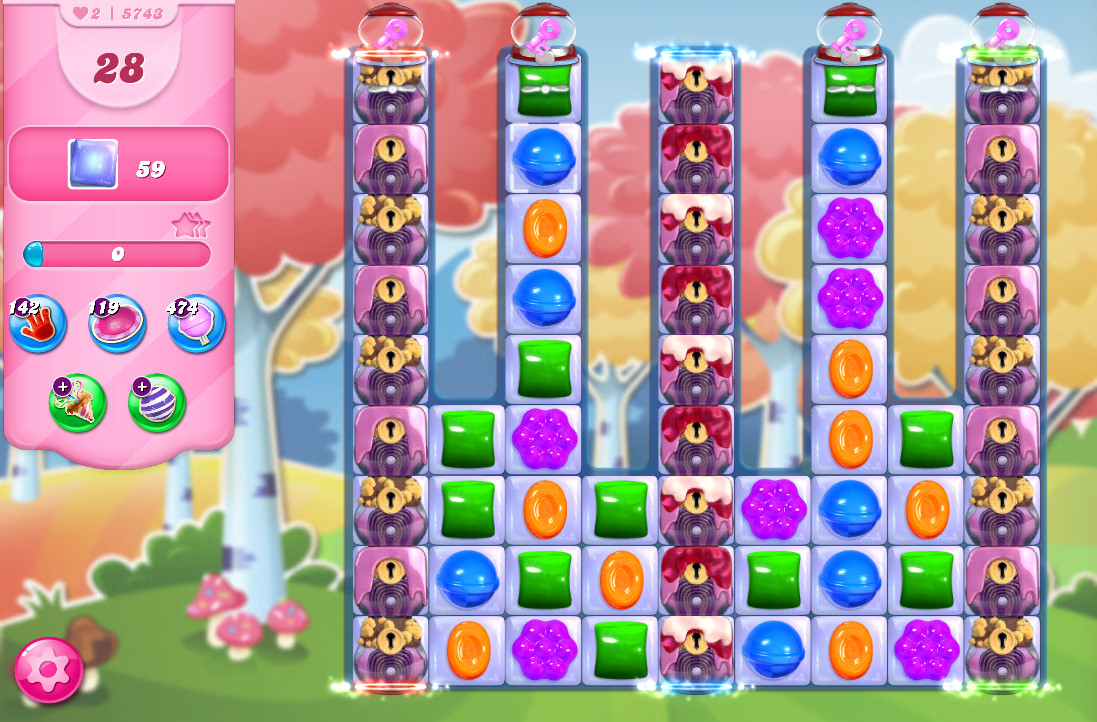 Candy Crush Saga level 5743
