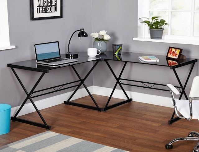 best buy cheap corner home office furniture glass for sale