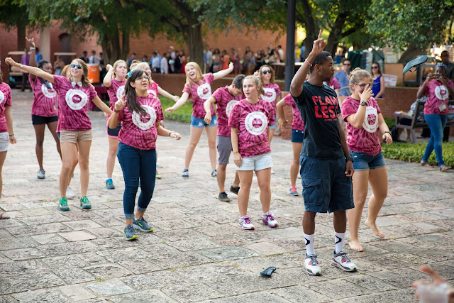 Trinity University students dance at All Campus Picnic