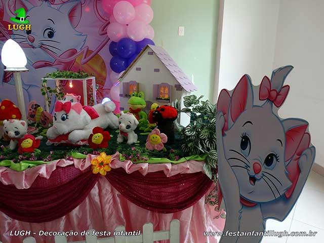 Gata Marie - Mesa de tema para festa de aniversário infantil