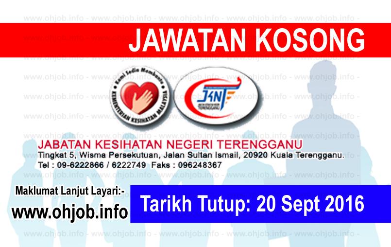 Jawatan Kerja Kosong Jabatan Kesihatan Negeri Terengganu (JKNT) logo www.ohjob.info september 2016