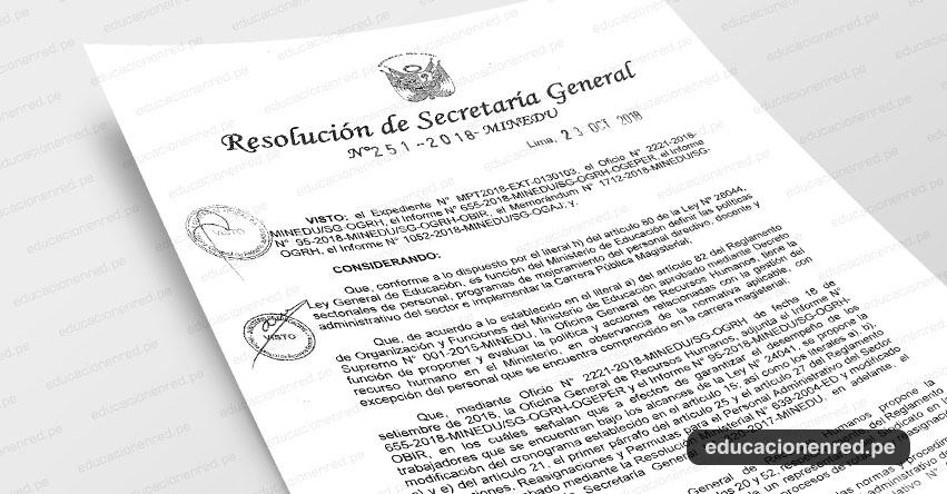 MINEDU publicó Norma que Modifica el Reglamento de Rotaciones, Reasignaciones y Permutas para el Personal Administrativo del Sector Educación