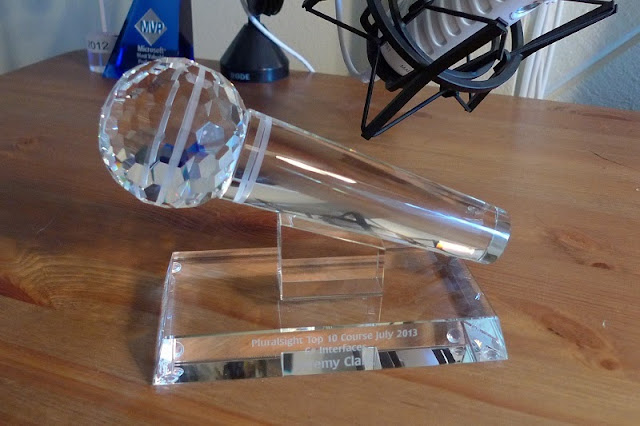 Pluralsight Crystal Microphone Award for C# Interfaces