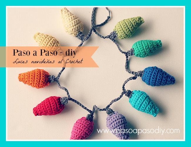 cómo tejer luces al crochet