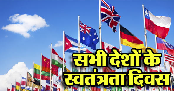 independence day of all countries
