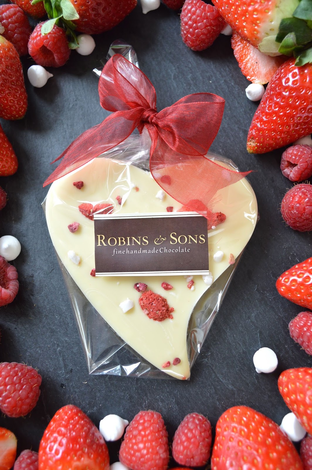 Robins & Sons Very Berry White Chocolate Heart