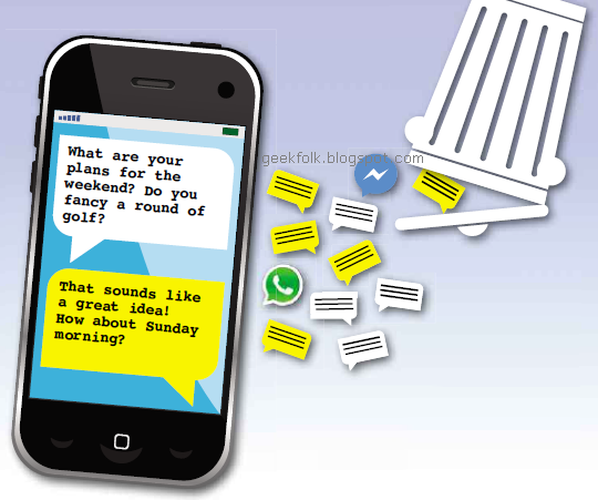 Recover lost emails and texts