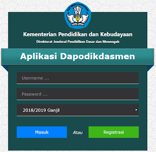 Aplikasi Dapodikdasmen versi 2019