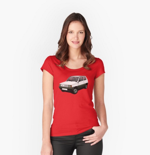 Fiat Panda t-shirt on Redbubble