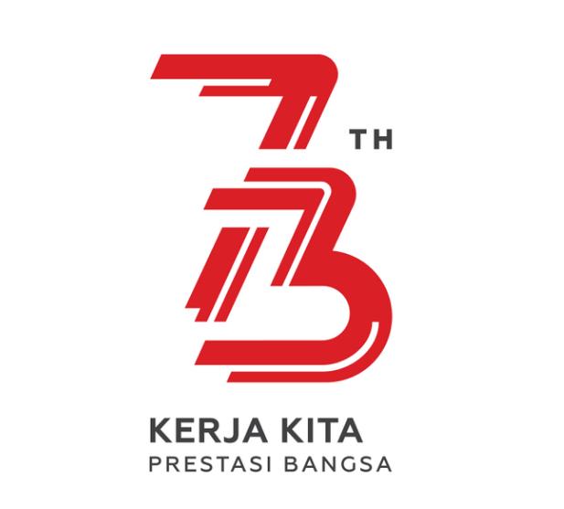Logo resmi peringatan HUT RI yang ke 73 tahun 2018