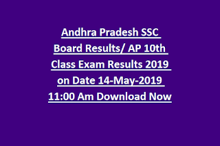 Andhra Pradesh SSC Board Result AP 10th Class Exam Results 2019 on Date 14-May-2019 Download Now