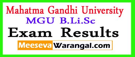Mahatma Gandhi University B.Li.Sc II Sem Results