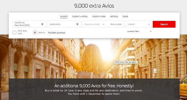 Up To 90,000 Iberia Bonus Avios For Booking Iberia Flights by June 24, 2018