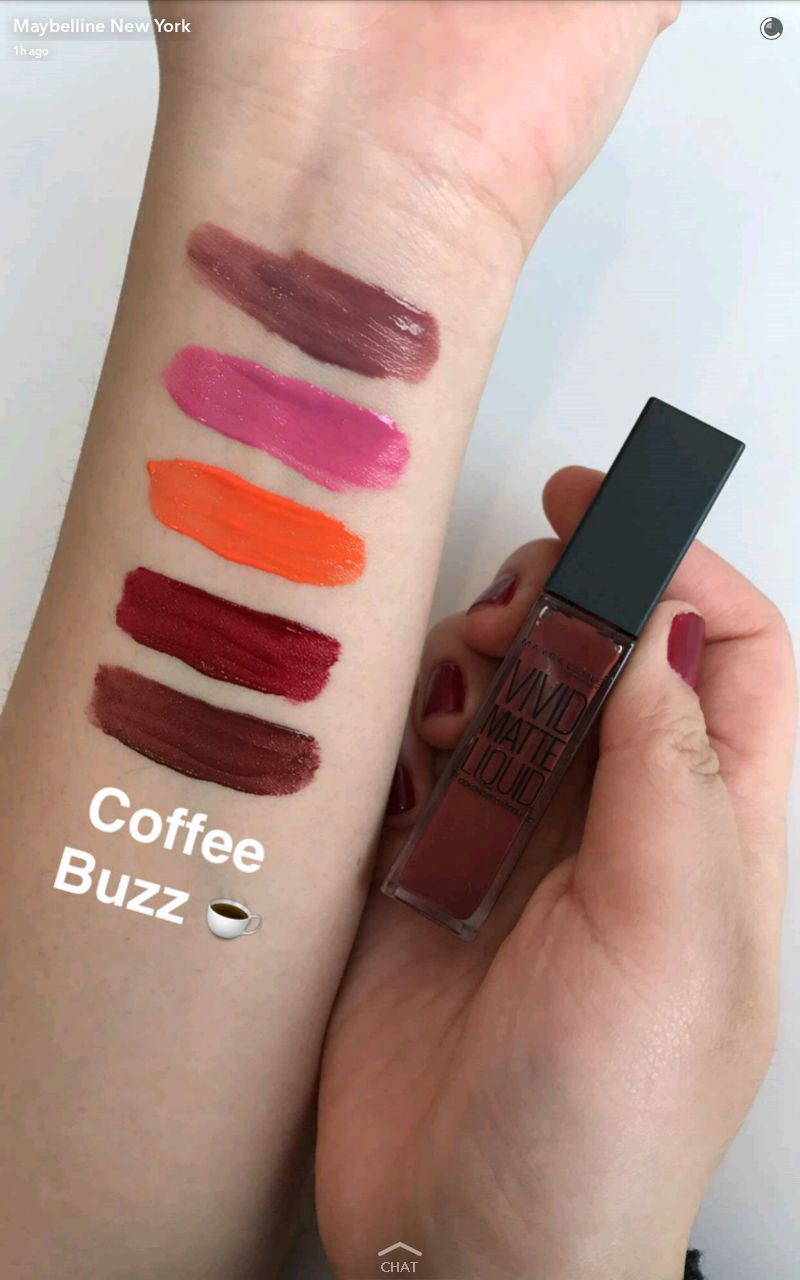 maybelline new vivid matte liquid lipstick swatches 6 coffee buzz