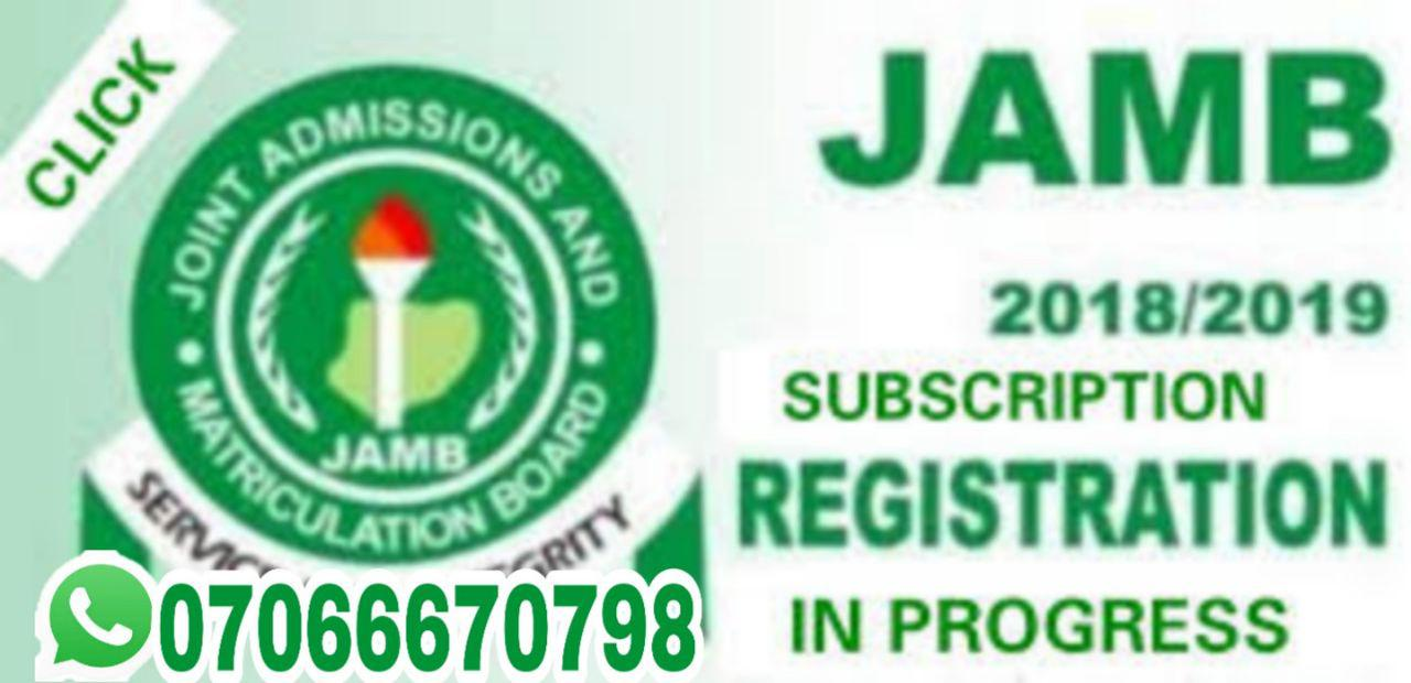 ~Jamb Subscription Ongoing&gt~
