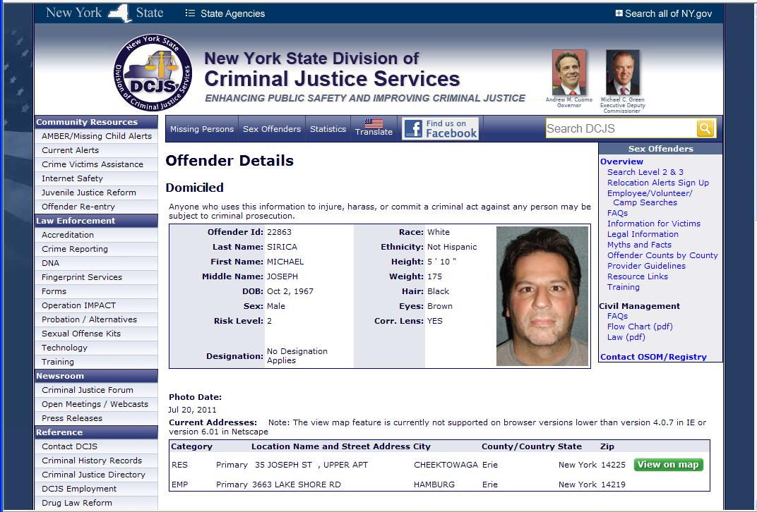 new york state sex offender website