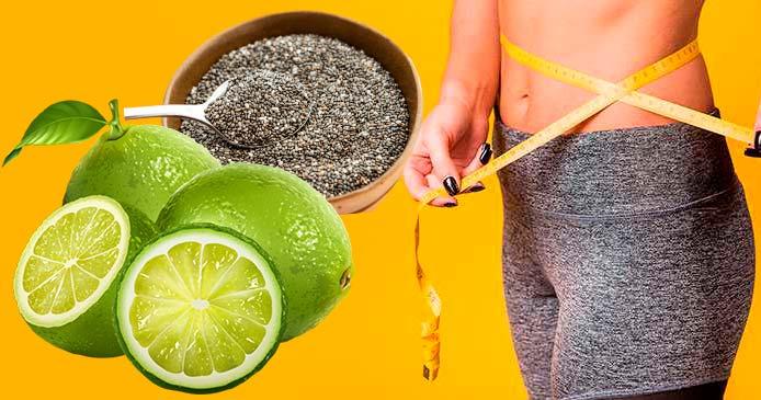 Chia con limón adelgaza