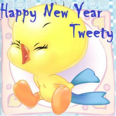 Gambar Selamat Tahun Baru Kartun Tweety Ayam Lucu