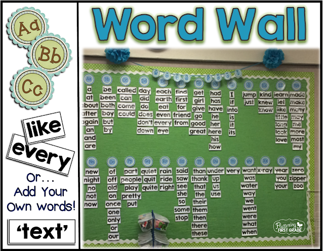 DIY Class word wall. Classroom decor made easy!