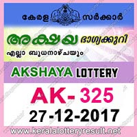 KERALA LOTTERY, kl result yesterday,lottery results, lotteries results, keralalotteries, kerala lottery, keralalotteryresult, kerala lottery result, kerala lottery result live, kerala lottery results, kerala lottery today, kerala lottery result today, kerala lottery results today, today kerala lottery result, kerala lottery result 27-12-2017, Akshaya lottery results, kerala lottery result today Akshaya, Akshaya lottery result, kerala lottery result Akshaya today, kerala lottery Akshaya today result, Akshaya kerala lottery result, AKSHAYA LOTTERY AK 325 RESULTS 27-12-2017, AKSHAYA LOTTERY AK 325, live AKSHAYA LOTTERY AK-325, Akshaya lottery, kerala lottery today result Akshaya, AKSHAYA LOTTERY AK-325, today Akshaya lottery result, Akshaya lottery today result, Akshaya lottery results today, today kerala lottery result Akshaya, kerala lottery results today Akshaya, Akshaya lottery today, today lottery result Akshaya, Akshaya lottery result today, kerala lottery result live, kerala lottery bumper result, kerala lottery result yesterday, kerala lottery result today, kerala online lottery results, kerala lottery draw, kerala lottery results, kerala state lottery today, kerala lottare, keralalotteries com kerala lottery result, lottery today, kerala lottery today draw result, kerala lottery online purchase, kerala lottery online buy, buy kerala lottery online