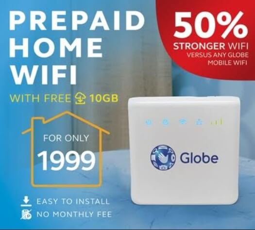 Globe Introduces Prepaid Home WiFi for Only Php1,999; Comes with 10GB Free Data