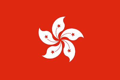 Logo Gambar Bendera Negara Hong Kong PNG JPG ukuran 400 px