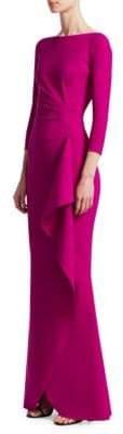 Chiara Boni La Petite Robe Gaylin Side Ruffle Gown