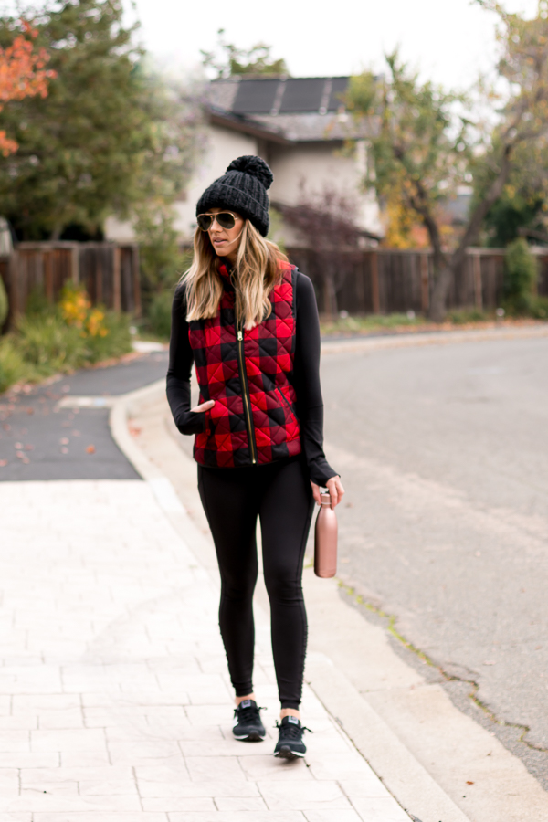 red and black buffalo check vest parlor girl