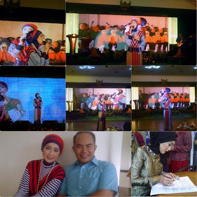 Artis Penyanyi Desy Ratnasari Acara HUT Kantor Dinas