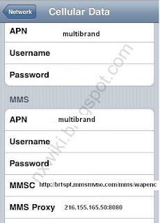 Brightspot APN Settings for iPhone