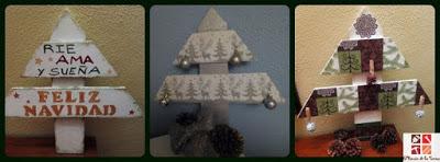 arboles de navidad con madera de palets