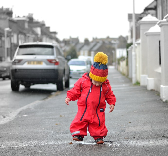 Polarn o pyret raincoat, waterproof onesie, Pop rain wear, Polarn o Pyret, all in one rain coat