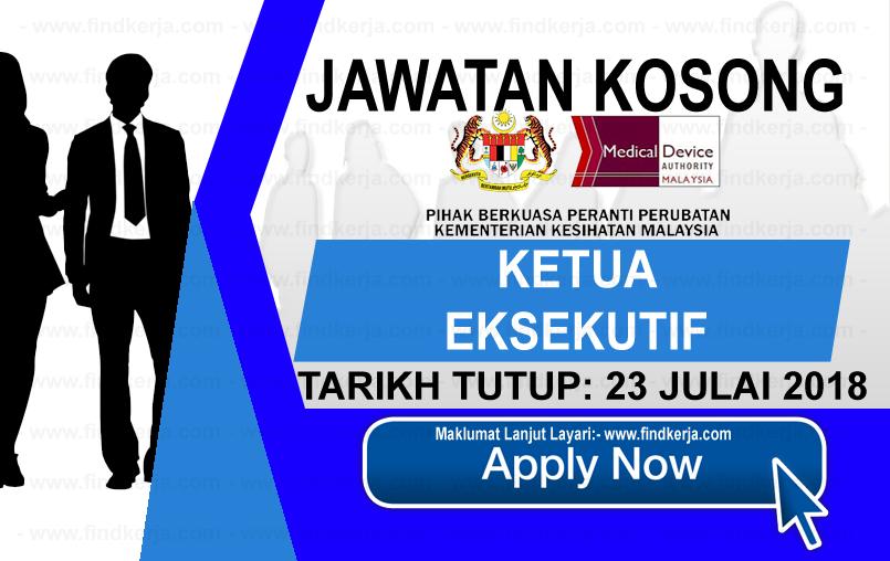 Jawatan Kerja Kosong KKM - Pihak Berkuasa Peranti Perubatan logo www.ohjob.info www.findkerja.com julai 2018