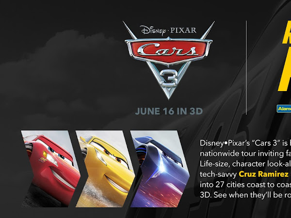 "CARS 3 ""Road to the Races"" nationwide tour –coming soon to Charlotte and Greensboro, NC"