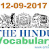 The Hindu Vocabulary with English-Hindi meanings  (12 September 2017)