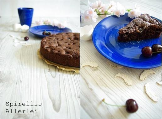 Spirellis Allerlei - Kuchen mit Schokolade und Kirschen