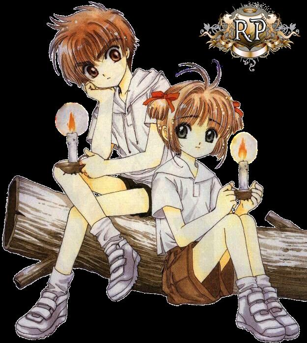 Render - Sakura y Shaoran - Sakura, cazadora de cartas