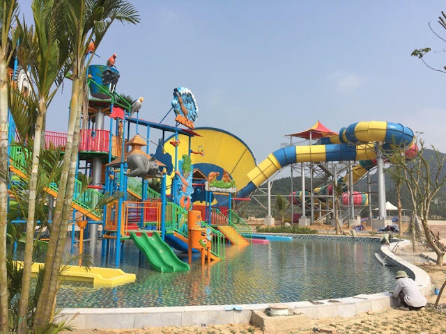 Khu vui chơi cho trẻ em tại công viên nước Thanh Hà