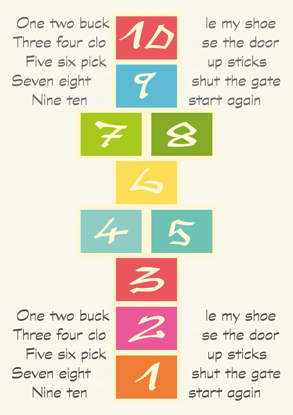 Free Printable Hopscotch Nursery Wall Art