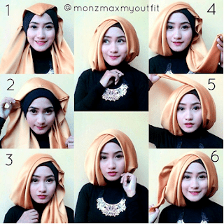 download video tutorial hijab segi empat pesta